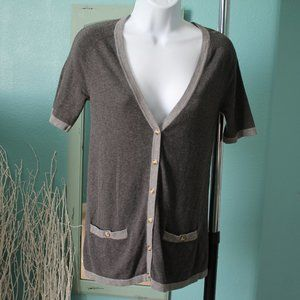Thakoon for Target gray shortsleeve cardigan XS